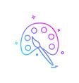 color palette paint icon design vector image