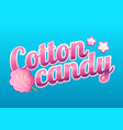 colorful cotton candy shop logo label or emblem vector image