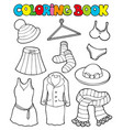 coloring book with various clothes vector image vector image