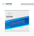 company ad banner design with blue theme with vector image