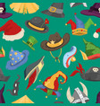 different funny holiday carnival hats for party vector image vector image