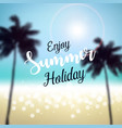 enjoy summer holiday vector image