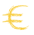 Euro Sign Brushed vector image vector image