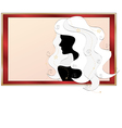 fashionable silhouette of a girl vector image vector image