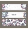 Floral banners design with place for your text vector image vector image