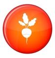 Fresh radish icon flat style vector image vector image
