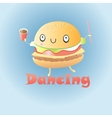 funny burger vector image