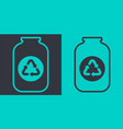 glass jar recycling icon flat outline vector image