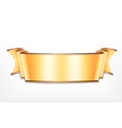 golden ribbon icon vector image vector image