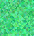 Green triangle mosaic pattern background design vector image