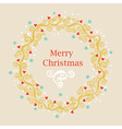 Greeting card with Christmas wreath vector image vector image