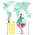 international business at home freelancer distant vector image vector image
