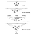 isometric and perspective drawing vector image vector image