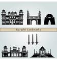 Karachi landmarks and monuments vector image vector image