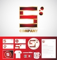 Letter S logo corporate identity template vector image