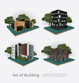 modern city building perspective vector image
