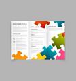 modern three fold brochure design template vector image vector image
