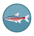 Neon fish icon vector image
