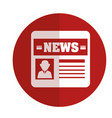 news paper isolated icon vector image