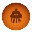 orange emblem muffin icon vector image vector image