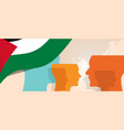 palestine palestinian concept of thinking growing vector image vector image
