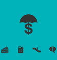preservation and protection money icon flat vector image vector image