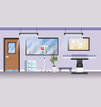 professional hospital with medical stretcher and vector image