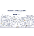 Project Management Doodle Concept vector image vector image