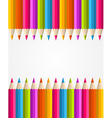 Rainbow colorful pencils banner pattern vector image