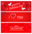 Red Valentines Greeting Cards vector image vector image