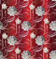 Red vintage floral seamless pattern vector image