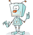 robot cartoon vector image vector image