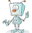 robot cartoon vector image vector image
