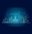 saudi arabia detailed skyline vector image