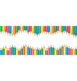 seamless colored pencils wave row banner crayons vector image