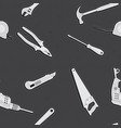 seamless textures of construction tools vector image vector image