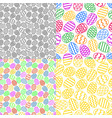 set colorful easter eggs seamless pattern vector image vector image