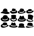 set of different hats vector image vector image