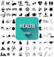 Set of health icons vector image
