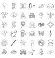 settlement icons set outline style vector image vector image