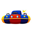 Single bump car with flag vector image