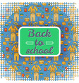 square back to school nameplate background vector image vector image