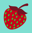 strawberry sweet fruit icons set realistic vector image