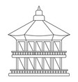 taiwan temple icon outline style vector image