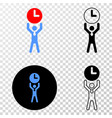 time manager eps icon with contour version vector image vector image