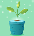 Tree Pot Eco Technology Design vector image