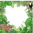 tropical background with little puma and toucan vector image
