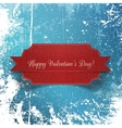 valentines day realistic paper red label vector image vector image