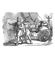 vintage drawing biblical story david and vector image