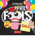 April Fool Sale Banner vector image